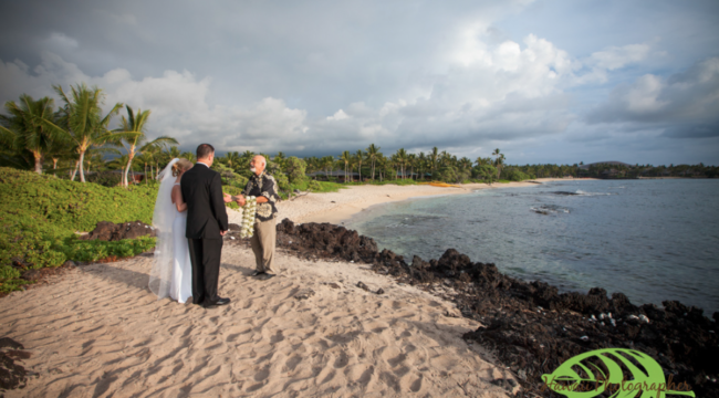 Kukio Beach Sunset Wedding